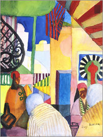 August Macke - In the Bazar
