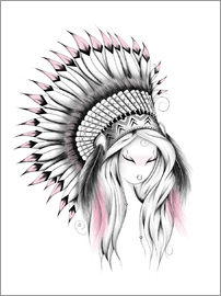 LouJah - Indian Headdress Pink Version