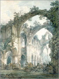 Joseph Mallord William Turner - interior of tintern abbey monmouthshire c1794 victoria and albert museum london