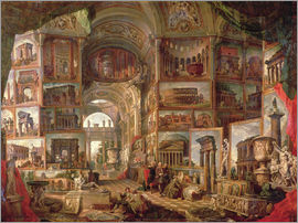 Giovanni Paolo Pannini - Interior of an imaginary picture gallery