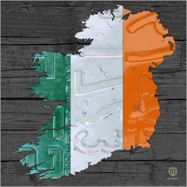 Design Turnpike - Ireland License Plate Map