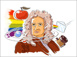 Harald Ritsch - Isaac Newton, English physicist