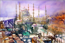 Johann Pickl - Istanbul, view to the blue mosque