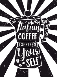 Nory Glory Prints - Italian coffee typography art