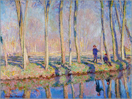 Blanche Hoschede-Monet - monet jean pierre hoschede and michel monet on the banks of the epte web