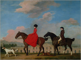 George Stubbs - John and Sophia Musters riding at Colwick Hall