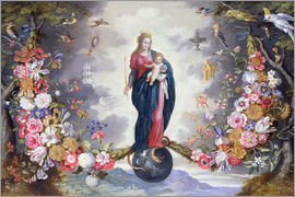Jan Brueghel d.Ä. - The Virgin and Child surrounded by a garland