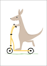 Sandy Lohß - Kangaroo with scooter
