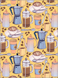 Micklyn Le Feuvre - Coffee Love on Yellow
