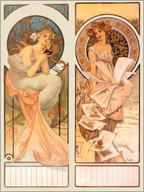 Alfons Mucha - Kalender Champagne