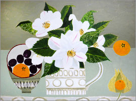 Vanessa Bowman - White Camellia and Tangerines