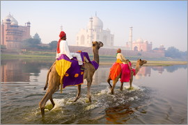 Gavin Hellier - Camel riders at the Taj Mahal
