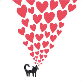 Kidz Collection - cat heart