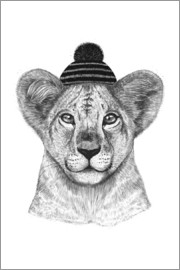 Valeriya Korenkova - Kid lion in hat