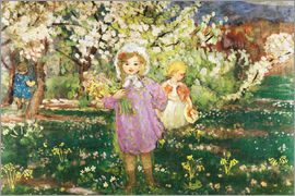 Henri Lebasque - Kinder in einem Obstgarten