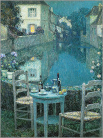 Henri Le Sidaner - Small Table in Evening Dusk