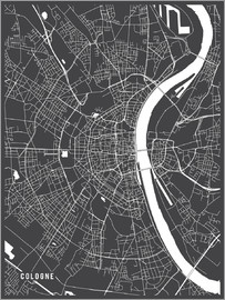 Main Street Maps - Cologne Germany Map