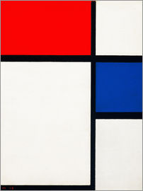 Piet Mondrian - Composition with Yellow, Blue and Red
