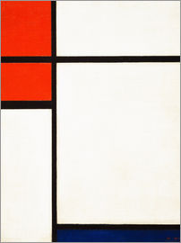 Piet Mondrian - composition with red and blue