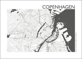 44spaces - KOPENHAGEN KARTE steelgrey