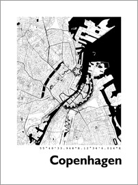 44spaces - Kopenhagen Stadtplan HF 44spaces