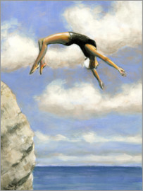 Sarah Morrissette - Jumping from a rock