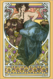 Alfons Mucha - La Dame L'Ours, 1960