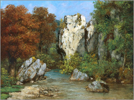 Gustave Courbet - Landschaft am Bach