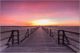 Dennis Stracke - Long jetty at the beach of St. Peter Ording
