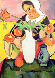 August Macke - Lautespielerin