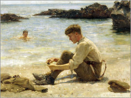 Henry Scott Tuke - Lawrence als Kadett am Newporth Strand
