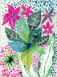 Janet Broxon - Leafy Tropical