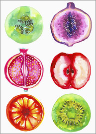 Ikon Images - Delicious fruits in watercolor