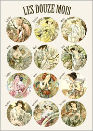Alfons Mucha - Les Douze Mois - 12 months of the year