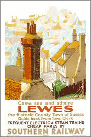 Gregory Brown - Lewes, Plakatwerbung Southern Railway