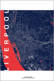 campus graphics - Liverpool Map Midnight City