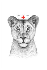 Valeriya Korenkova - Lioness as a nurse