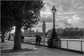Filtergrafia - London an der Themse Big Ben monochrome