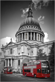 Melanie Viola - LONDON St  Paul's Cathedral und Red Bus