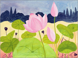 Marie Hugo - Lotus in the Garrigue, 1984