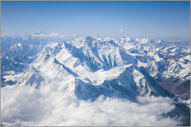 Matteo Colombo - Aerial view of mount Everest, Himalaya