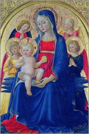Bartolomeo Caporali - Madonna and Child with Angels, c.1467