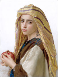 William Adolphe Bouguereau - Girl with a pomegranate