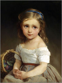 Emile Munier - Girl with plums Basket