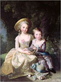 Elisabeth Louise Vigee-Lebrun - Marie-Therese-Charlotte of France as a child
