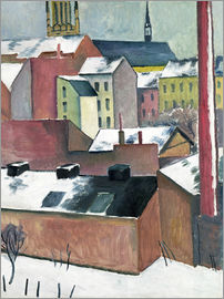 August Macke - The Church of St Mary in Bonn in Snow
