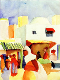 August Macke - Markt in Tunis I