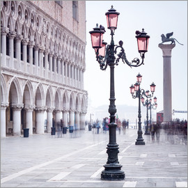 Jan Christopher Becke - Markusplatz in Venedig im Winter