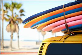 Image Source - Multi-coloured surfboards