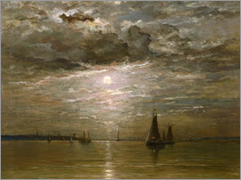 Hendrik William Mesdag - Mond über dem Meer